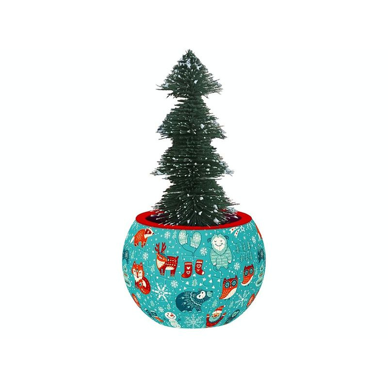 Puzzle Flowerpot  Christmas Animals