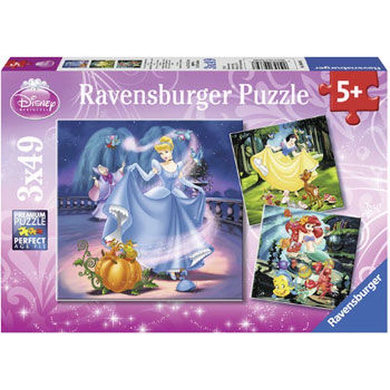 Ravensburger  Disney Snow White Cinderella and Ariel