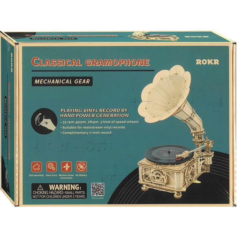 Robotime  Classical Gramophone
