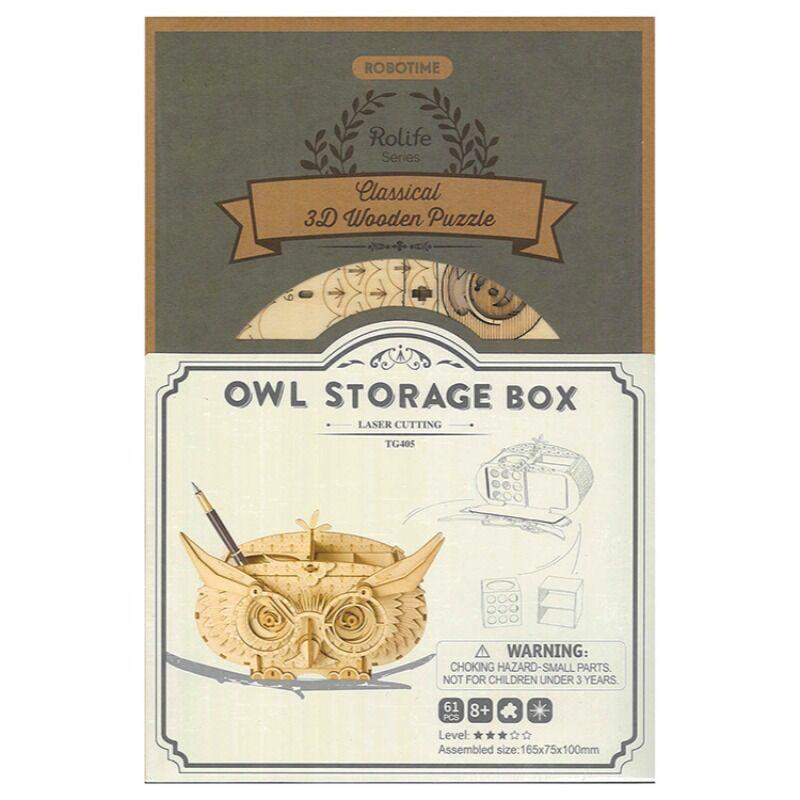 Robotime  Owl Storage Box