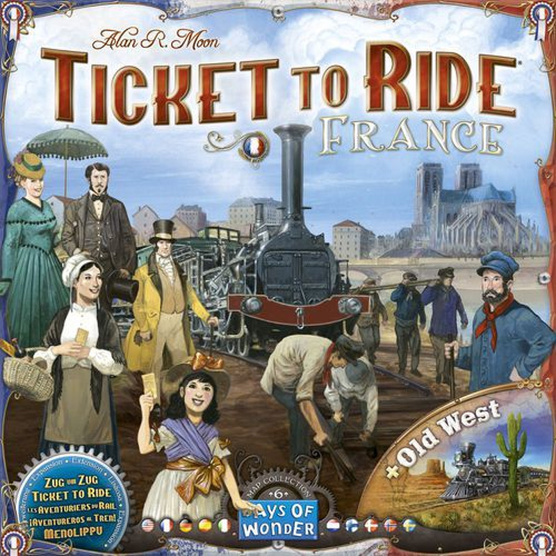 Ticket to Ride  FranceOld West Expansion 6