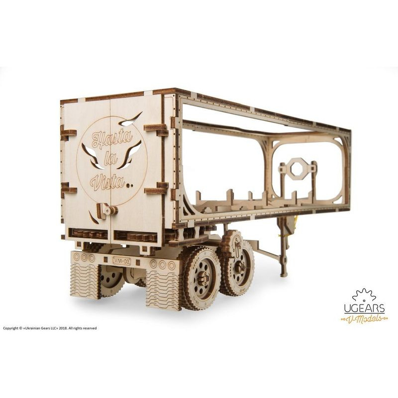 Ugears  Heavy Boy Truck VM03 Trailer  mechanical model kit