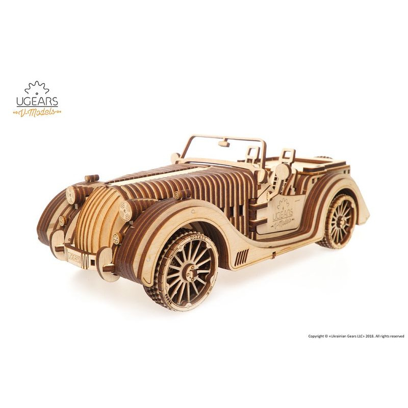 Ugears  Roadster VM01 mechanical model kit