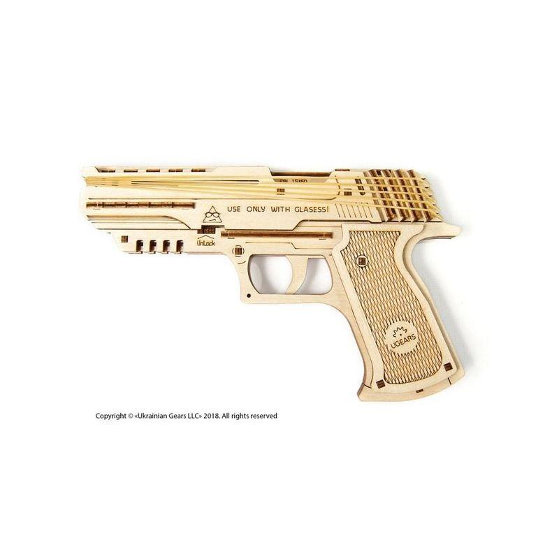 Ugears  Wolf01 Handgun mechanical model kit